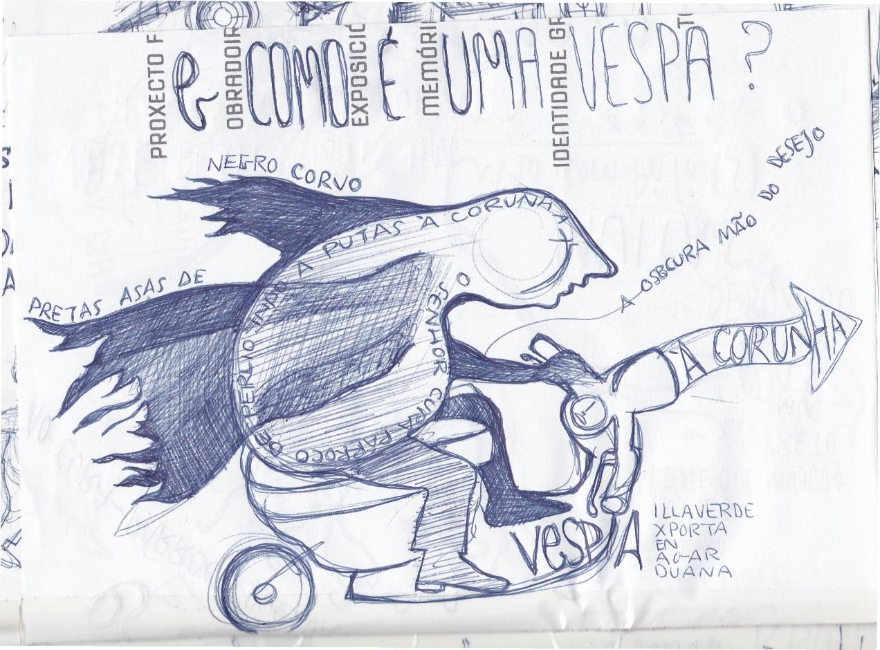 Ladislau da Regueira - Doxografia da'xistência - Vinte pesos mais um tirados à palangana - Anotação Gráfica 3 (2015)
