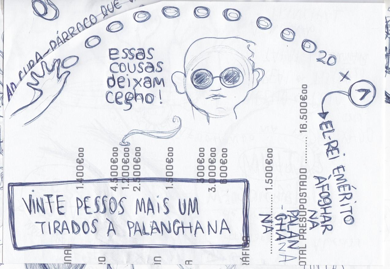 Ladislau da Regueira - Doxografia da'xistência - Vinte pesos mais um tirados à palangana - Anotação Gráfica 4 (2015)