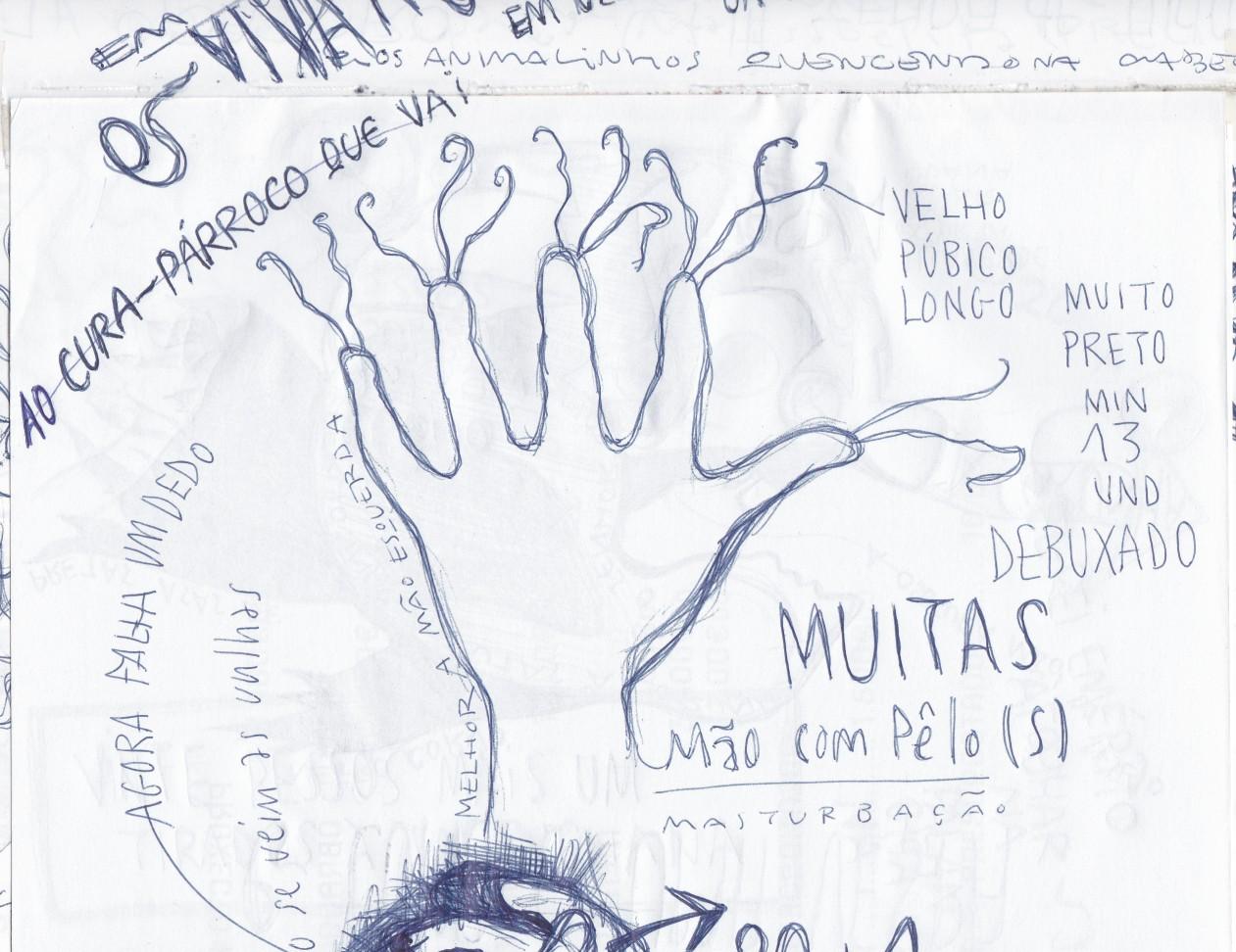 Ladislau da Regueira - Doxografia da'xistência - Vinte pesos mais um tirados à palangana - Anotação Gráfica 5 (2015)