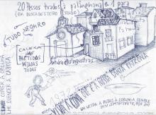 Ladislau da Regueira - Doxografia da'xistência - Vinte pesos mais um tirados à palangana - Anotação Gráfica 1 (2015)