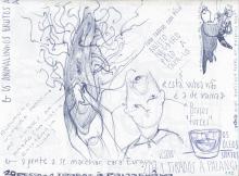 Ladislau da Regueira - Doxografia da'xistência - Vinte pesos mais um tirados à palangana - Anotação Gráfica 2 (2015)