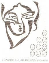 Ladislau da Regueira | Caderno d'Anotações | Máscara. Expressão Facial (1996)
