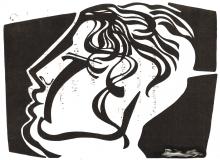 Ladislau da Regueira | Grafites, a orige | Umha cabeça de gesso cortada para Luis Cernuda (1992)