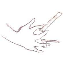 Ladislau da Regueira | Caderno d'Anotações  # Prestidixitador, mão destra | 2005
