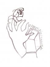 Ladislau da Regueira | Caderno d'Anotações  # Prestidixitador, mão esquerda | 2005