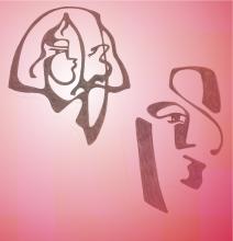 Ladislau da Regueira | Grafites, a orige | Duas cabeças (1992)