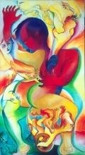 Ladislau da Regueira   Auto~retractos com mariscos: mexilom (1995)