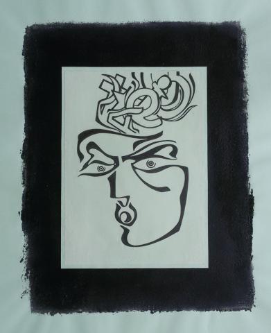 Ladislau da Regueira   Debuxar não é pintar  # Homenagem a Xabi Roade   1996