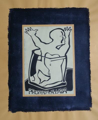 Ladislau da Regueira | Debuxar não é pintar  # Profeta em lata | 1996